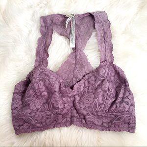 Intimately Free People Medium Purple Lace Bralette